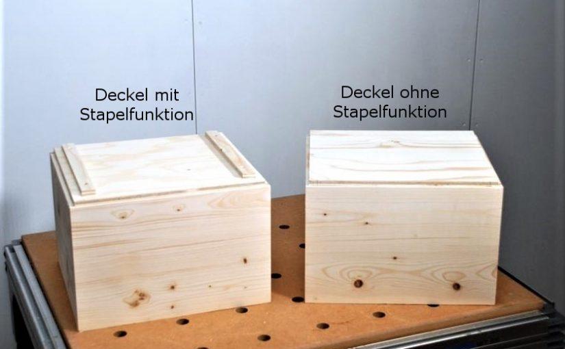 Deckel Fur Eine Holzkiste Bauen Deckel Mit Und Ohne Stapelfunktion