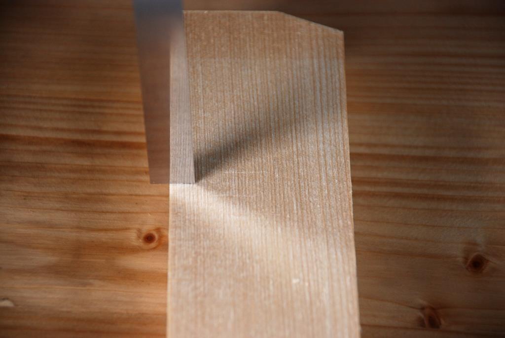 Spiegelseite spiegelt Struktur Fichtenleiste